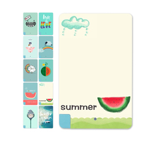 Funny Cute Style Watermelon and rainbow Pattern Universal 5600mAh Power Bank External Battery For Iphone for Samsung
