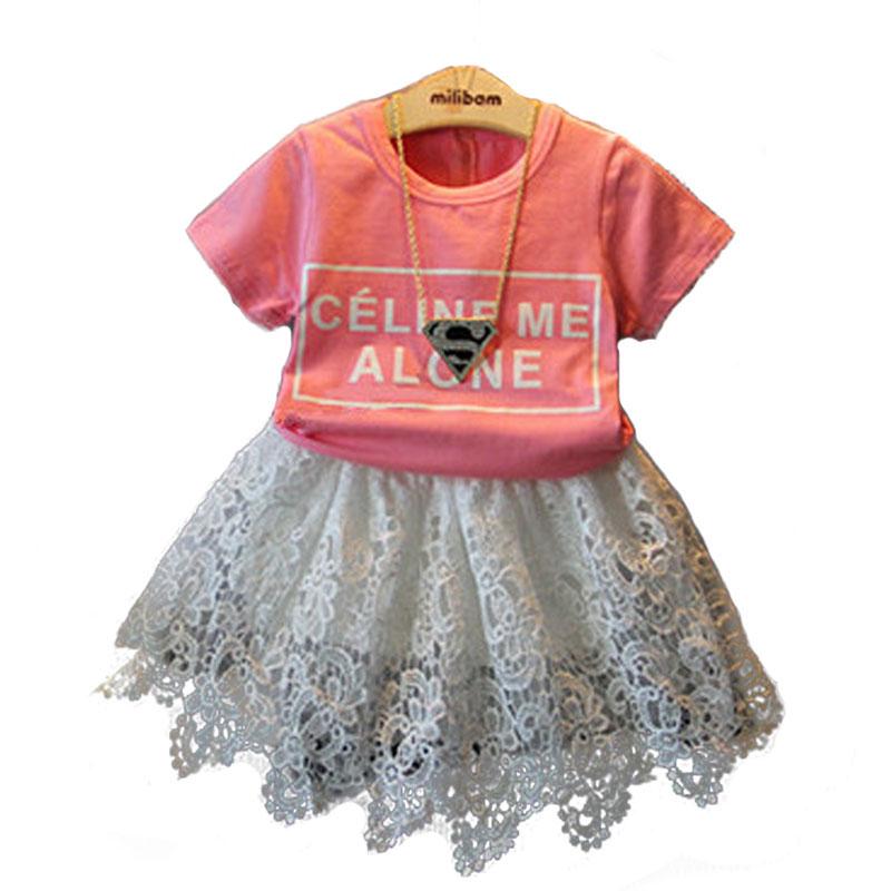 Girls T-Shirt Short Sleeve Kids Tshirt 2016 Summer Fashion Brand Children T Shirts O-Neck Cotton Pink Letter Girl Tops Tee Shirt<br><br>Aliexpress