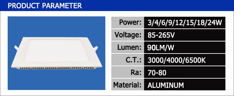 Squar LED panel light -1
