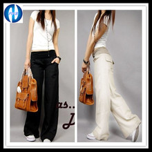 PIKB 2016 Better Updated Linen FREE linen pants elastic waist wide leg pants casual pants top straight pants loose trousers GIFT(China (Mainland))