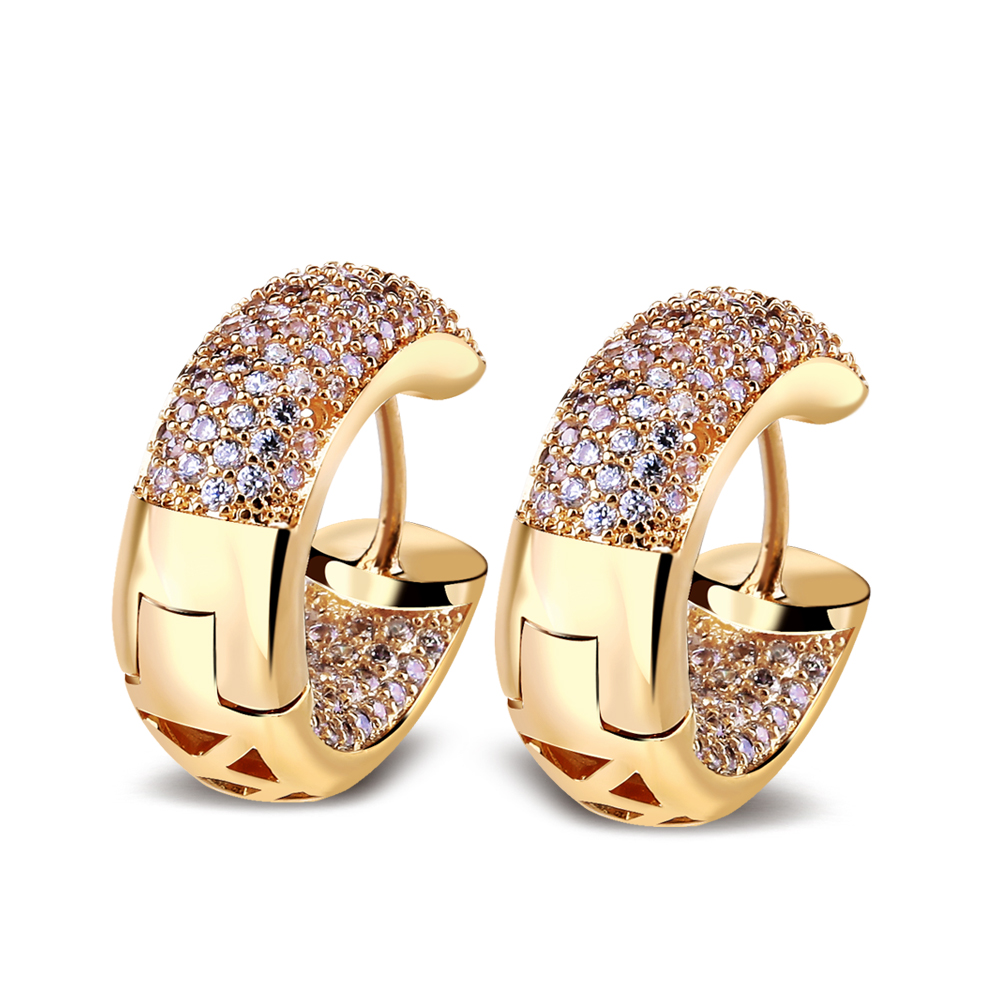 Vintage bridal fashion jewelry 18k gold plated stud for Top fashion jewelry designers