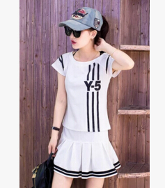 2016 new summer sport shirt skirt lady tennis culottes skirt badminton sports clothing leisure suit students(China (Mainland))