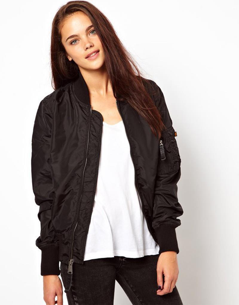 Womens Bomber Jacket Black | Outdoor Jacket