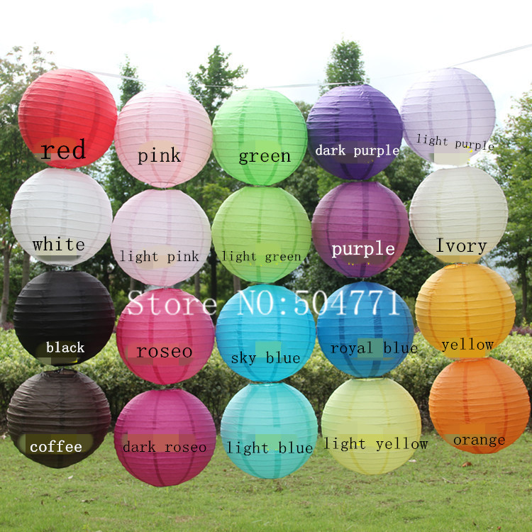 Free Shipping 8 inch 20cm Round Chinese Paper Lantern Birthday Wedding Party decor gift craft DIY wholesale retail(China (Mainland))