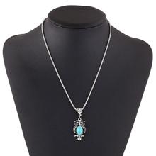 New Fashion hot sale Vintage Bohemia Ethnic style Bohemia Owl Pendants Necklace Turquoise Statement Necklace jewelry