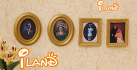 iland Cheap Free Shipping 1/12 Dollhouse Miniature Framed Picture Portrait Wooden 4pcs marry OM030 Classic toys