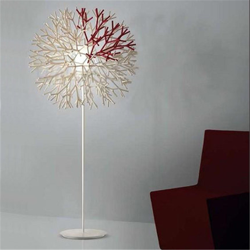 Wonderland Red&White Coral Floor Lamp <font><b>Italian</b></font> Creative Geometric Modern Famous Design <font><b>Decoration</b></font> Office/<font><b>Home</b></font>/Living Room F-05
