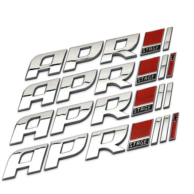 APR STAGE I / I+ / II / II+ Chrome Metal Racing Car Emblem ... Apr