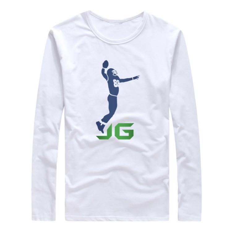 2017 Autumn Winter Men #88 Jimmy Graham Logo Seattle T-Shirt Long Sleeve Tees T SHIRT Men's Seahawks Fashion JG Logo W1030012(China (Mainland))