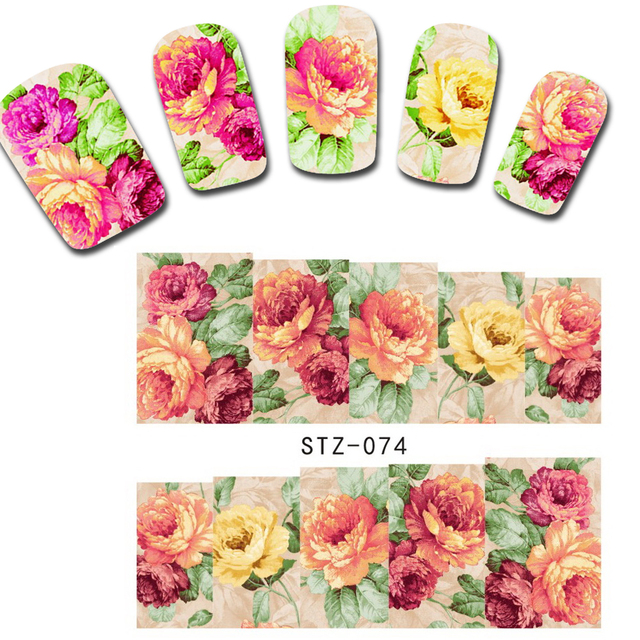 50 Sheets Of Nail Art Water Stickers Flower Edition