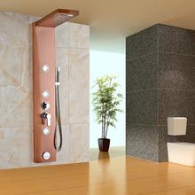 Luxury Stainless Steel Construction Shower Panel with Waterfall Rain Head Wall Mounted Body Sprayer Jets Brass Handshower(China (Mainland))