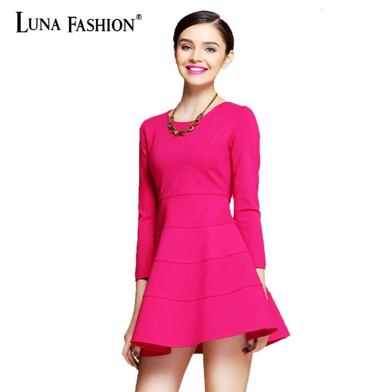 XL - 4XL 3XL 2XL Vestido Plus Size Detalhe Decote Em long sleeve bodycon new 2015 rose red green black casual dress(China (Mainland))
