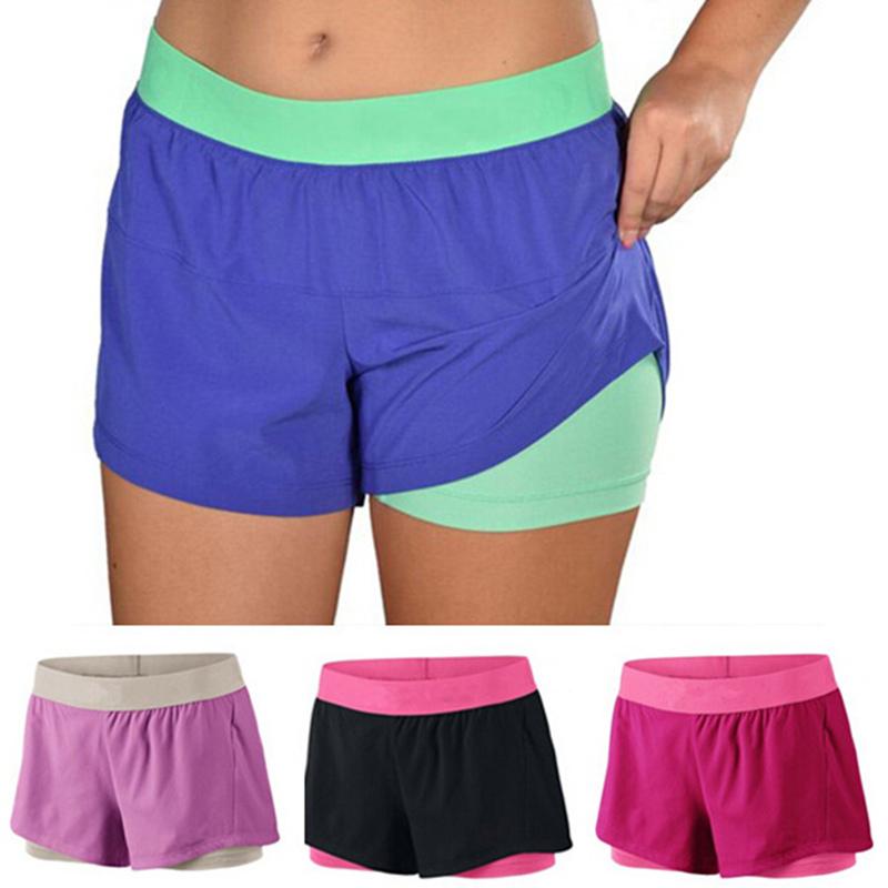 SR216 Circuit 2 in 1 Women Running Yoga Quick Dry Beach Shorts Tight Lining Sport Pro Wearing Training Short trousers pantalones(China (Mainland))
