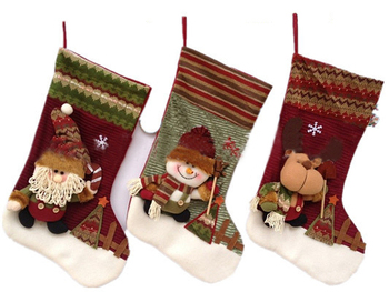 Sale 2013 happy Christmas lovely stockings hanging indoor family festival Ornaments SHB050