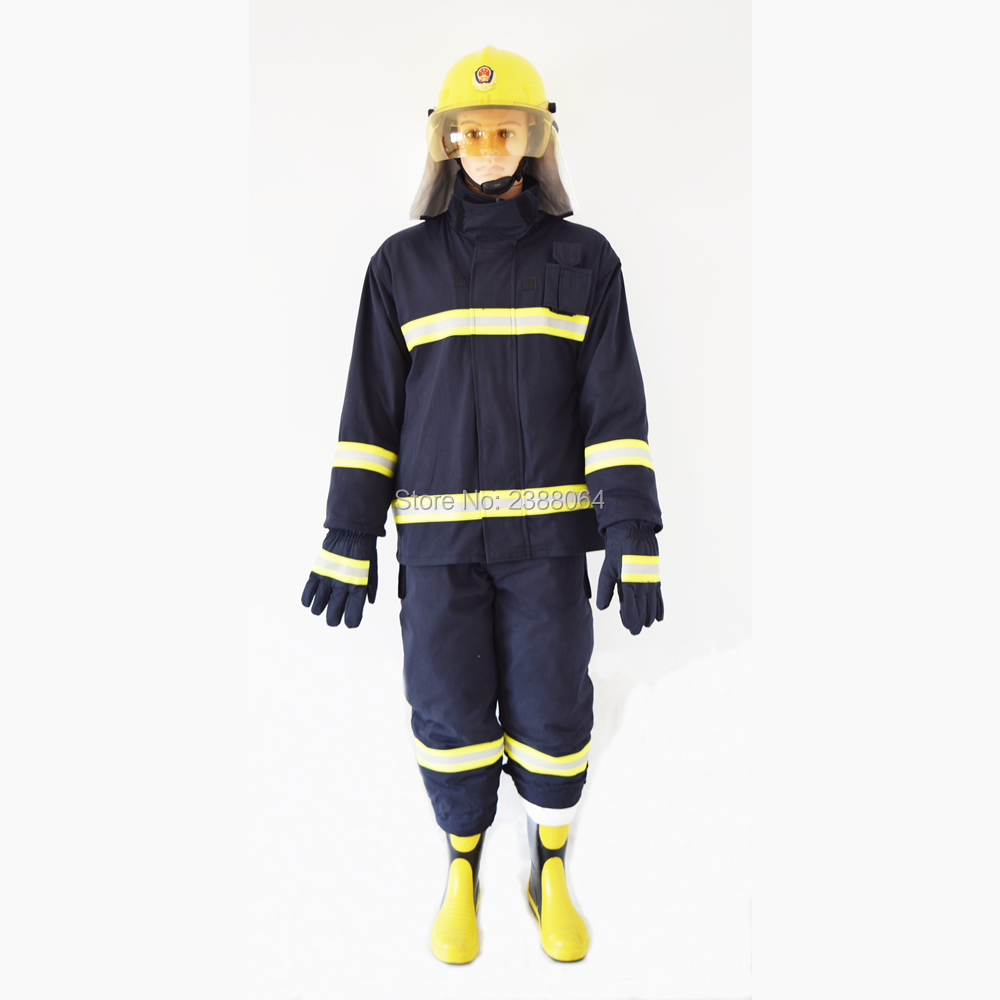 Sale As One Set(Including Fire helmet gloves belt boots) Fire rescue clothing