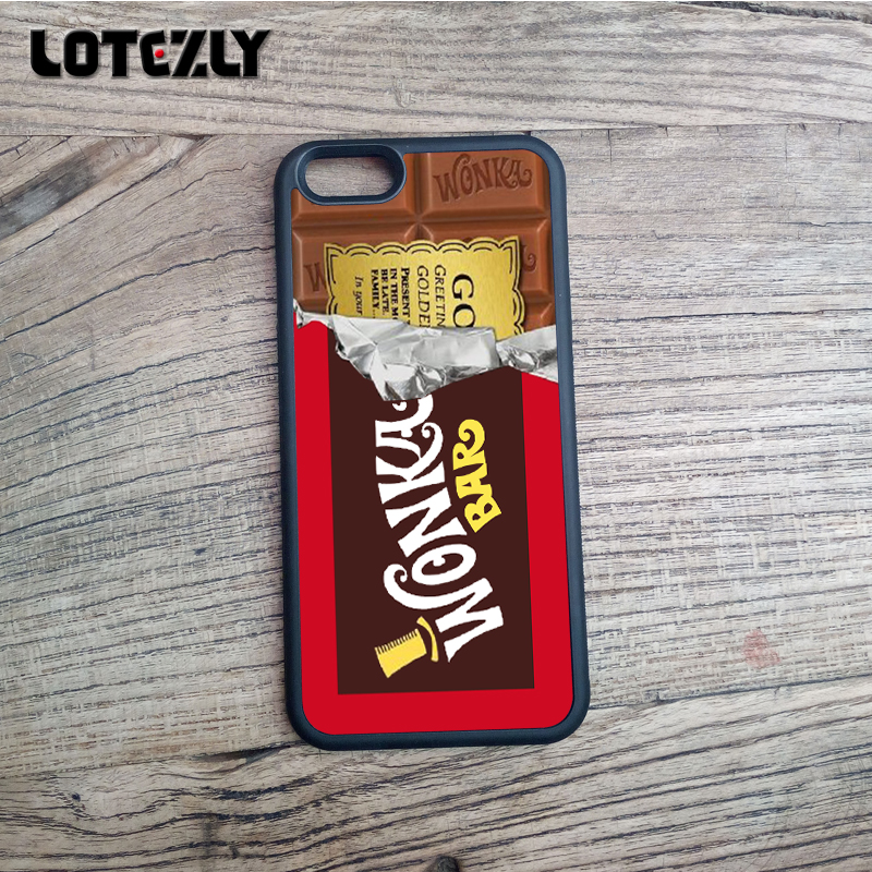 Wonka Phone Cases iPhone 5S Milk Girl Chocolate Candy Style Back Cover 5s Case - ENQI TRAFING CO.,LTD store