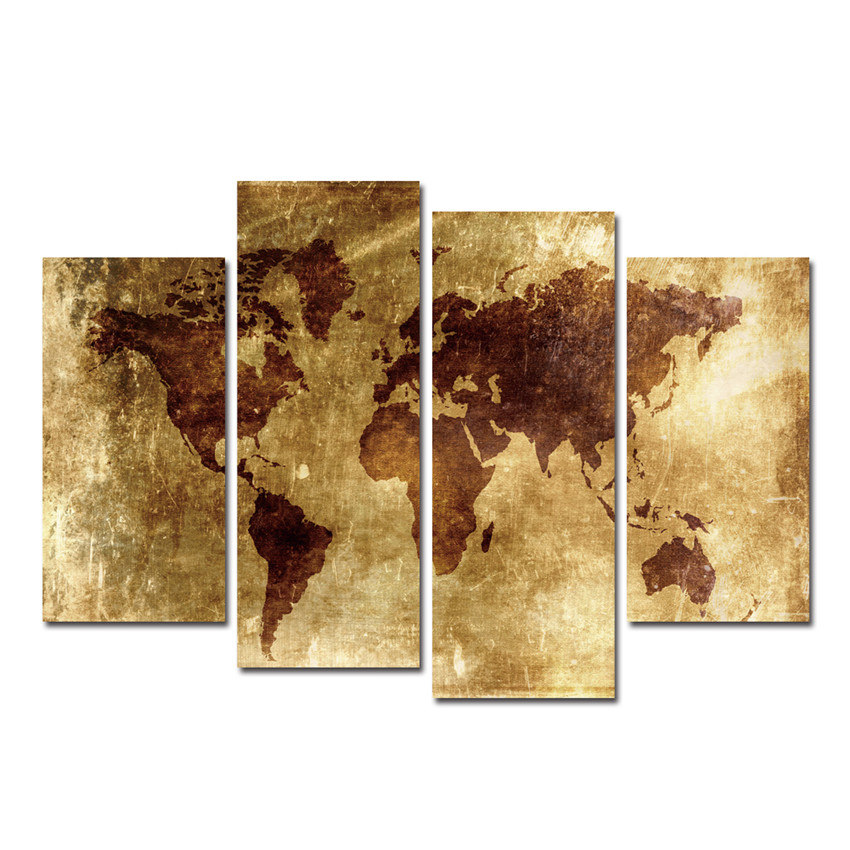 Online kopen wholesale wereldkaart schilderen uit china wereldkaart schilderen groothandel - Kamer schilderij ...