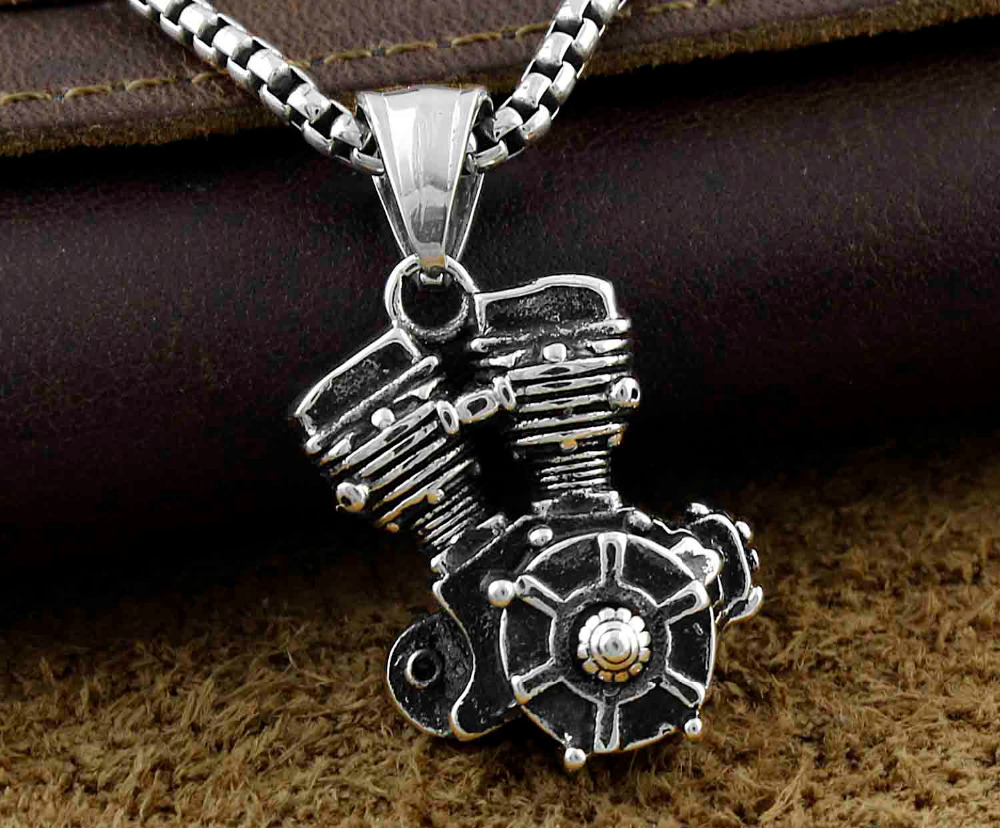 heavy rumble motorcycle engine s charm biker stainless