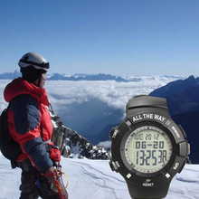 Long Standby Time Wrist Watch with Thermometer Altimeters GPS Waterproof for Outdoor Climbing