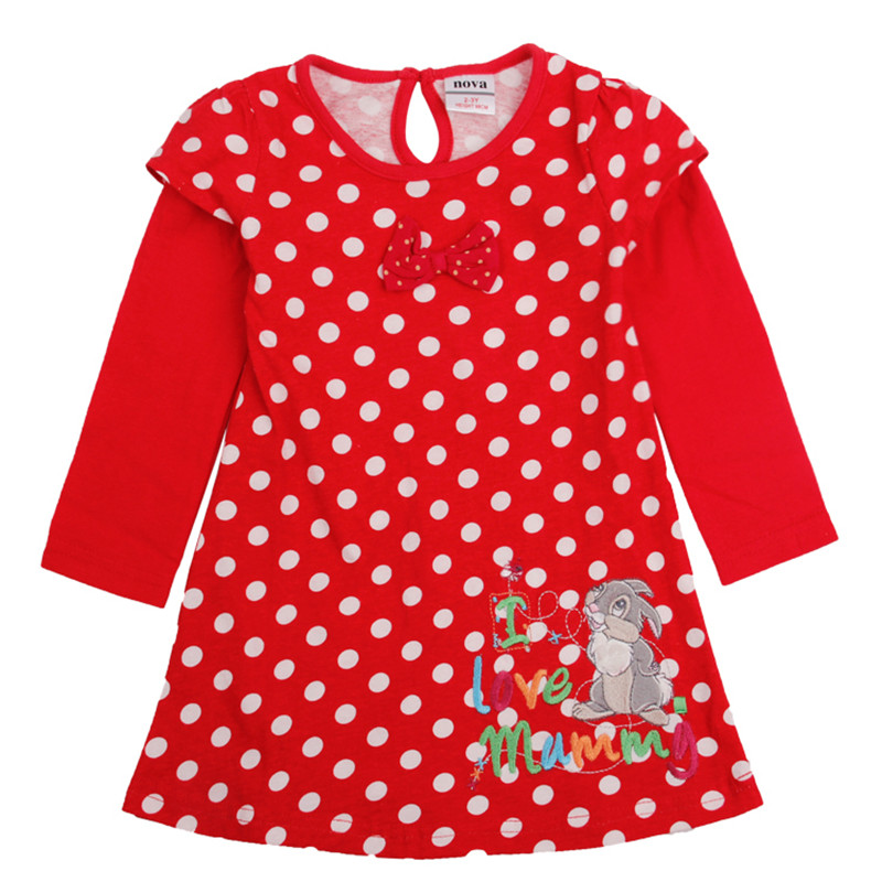 Dresses girls elsa costume Novatx kids children clothing polka dots dress spring autumn dresses H2765 - NOVATX Factory Store store