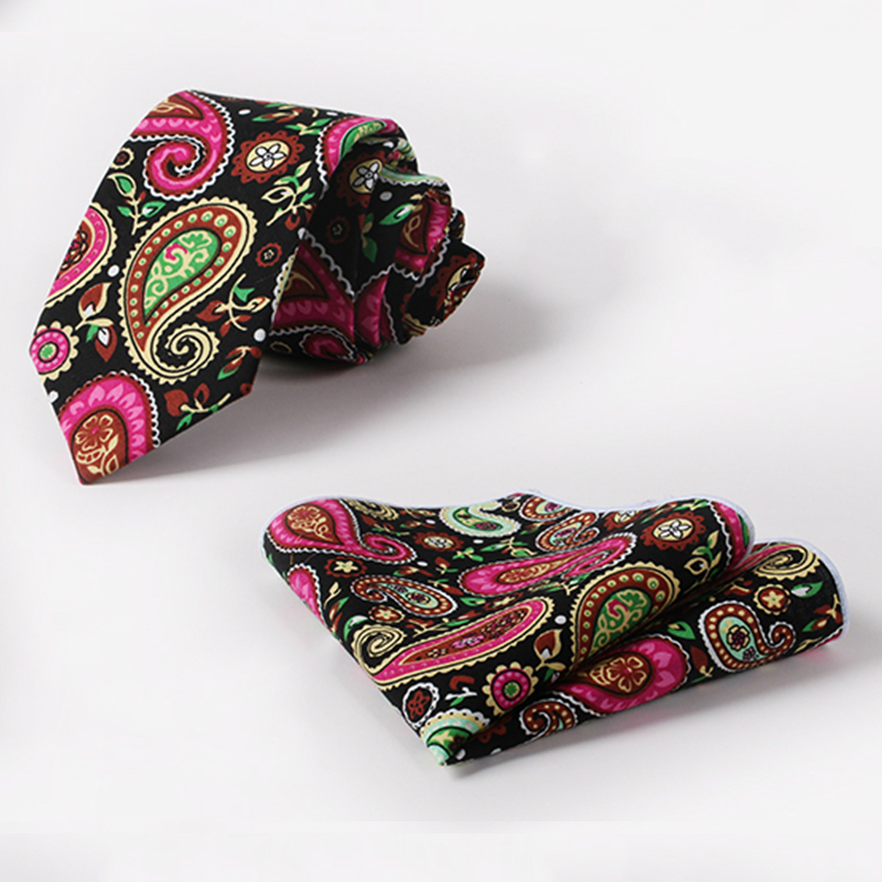Hot Wedding Gift Mens Shirt Vintage Paisley Cashew Flower Necktie & Pocket Square Towel Handkerchiefs and 6.5 cm Skinny Tie Set(China (Mainland))