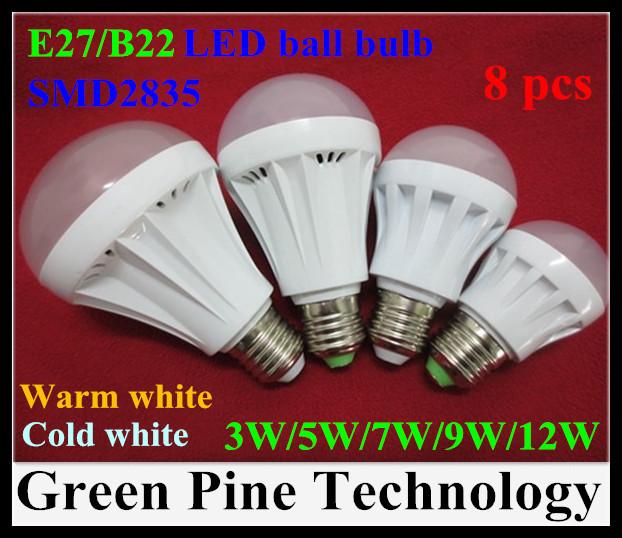 E27 B22 2835 SMD LED Bubble Ball Bulb 3W 5W 7W 9W 12W 15W AC220-240V Umbrella steep Lamp Spotlight light - Stareyes Green Pine Store store