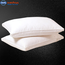 Svetanya rectangle Goose/Duck Down Pillow white color Down-proof Cotton bed pillows bedding neck almohada(China (Mainland))