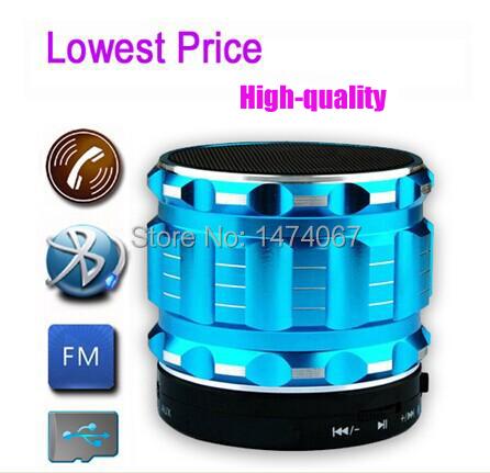 Portable Mini Bluetooth Speaker Wireless Smart Aluminium Speaker With FM Radio Support SD Card For iPhone Super Bass Speaker S28(China (Mainland))