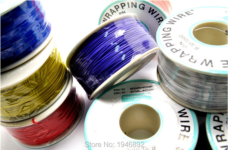 High quality electrical Wire Wrapping Wire Wrap 10 Colors Single strand copper AWG30 Cable OK Wire &amp; PCB Wire<br><br>Aliexpress