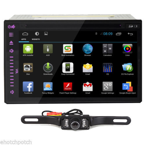 Free Camera Pure Android 4.2 Full-touch Screen Car PC Tablet 3G-WIFI GPS Car Radio DVD CD MP3 MP4 Player 2 din Car Stereo audio(China (Mainland))