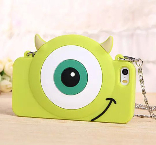New fashion kawaii cartoon Mike handbag with chain case For Apple iPhone 5 5s Case Series Case Bulk Price(China (Mainland))