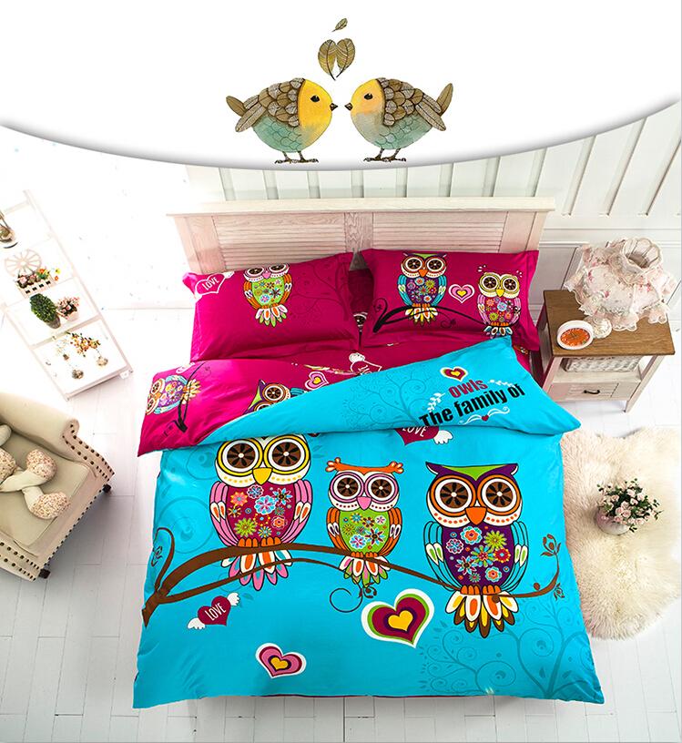 achetez en gros draps de lit hibou en ligne des grossistes draps de lit hibou chinois. Black Bedroom Furniture Sets. Home Design Ideas