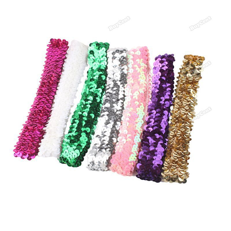 topCool cheaper Sparkle Sequin Stretch Headband 1 Team Softball Basketball Volleyball Sports Official Design(China (Mainland))