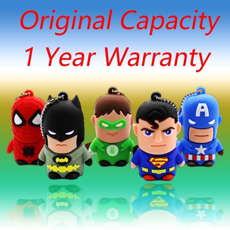 3.0 Pen Drive Cartoon Cute Batman 8gb/16gb/32gb/64gb/128gb Batman Superman Usb 2TB 1TB Flash Drive Memory Stick Pendrive Gift(China (Mainland))