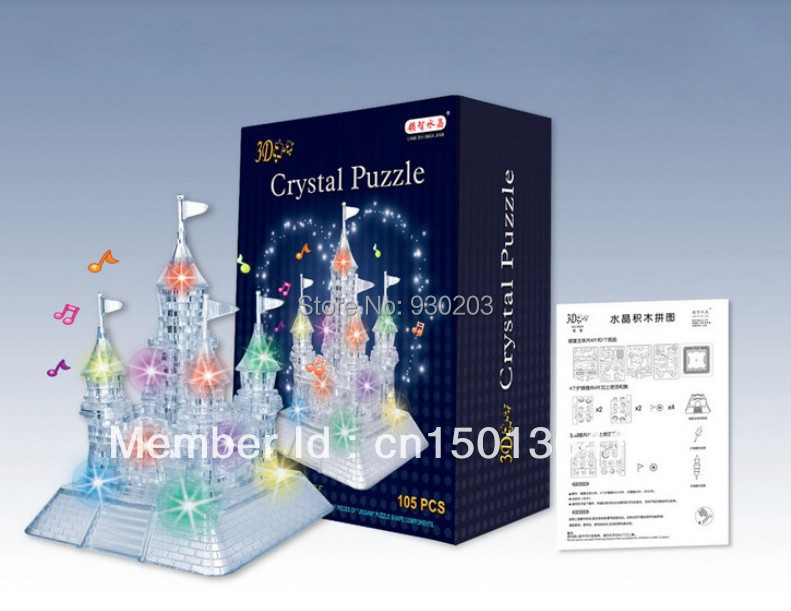 Castle 3D Crystal Jigsaw Puzzle with LED Music 105Pcs()