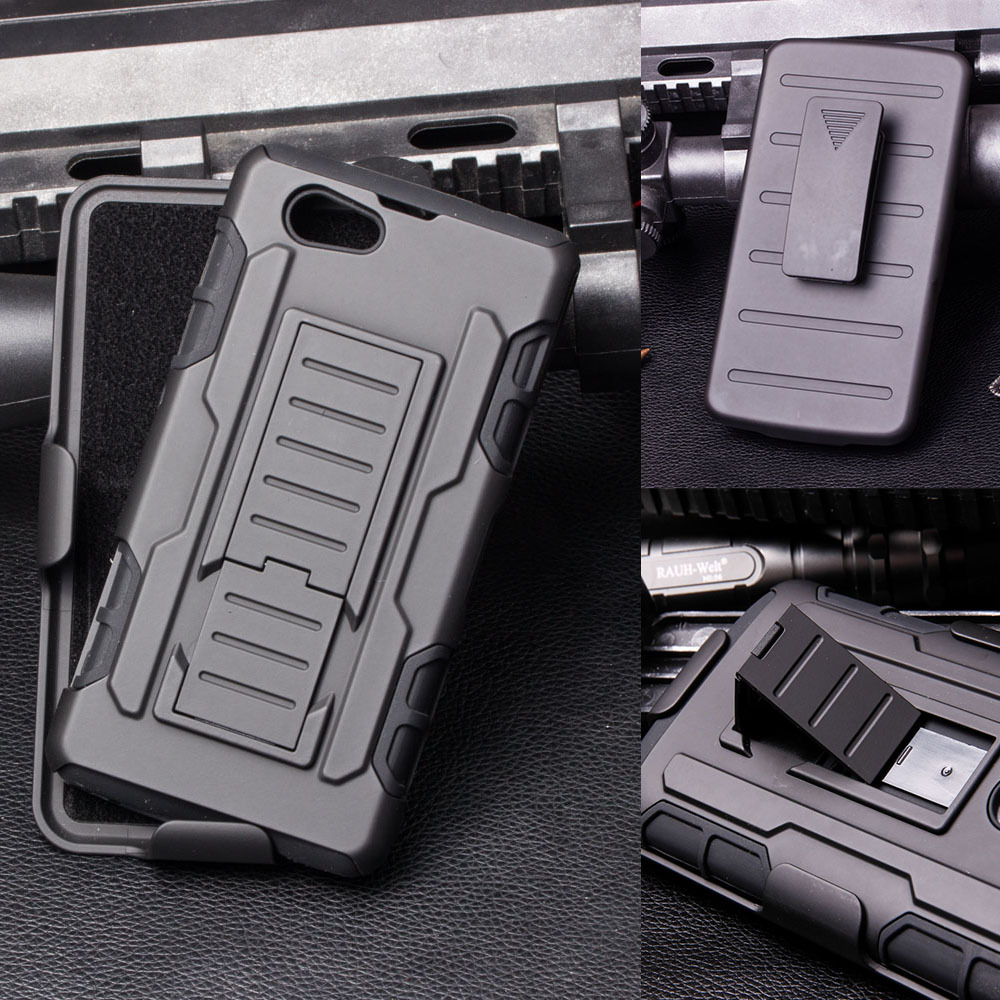 For Sony Xperia C4 C5 E4 E4G M4 Aqua Z1 Compact Z1 Mini Z5 T2 Ultra Future Armor Impact Holster Shockproof Hard Case Back Cover(China (Mainland))