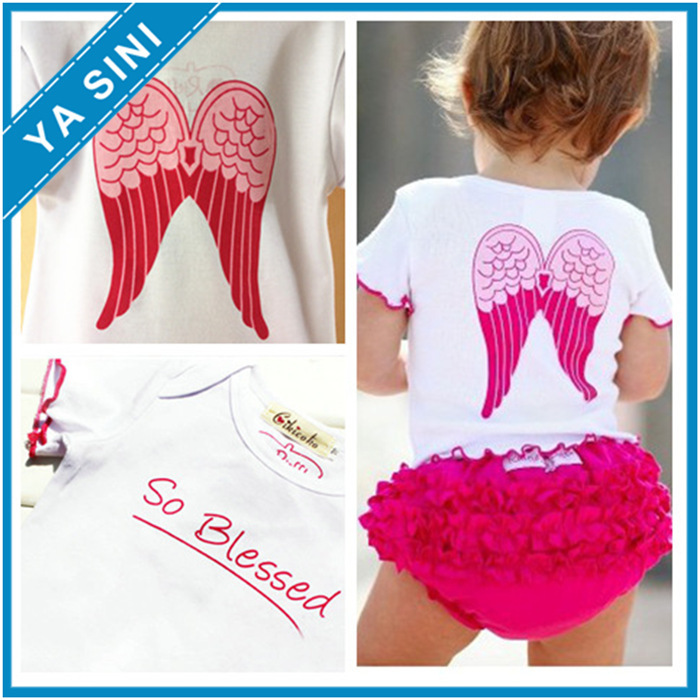 2015 summer style baby girl clothing carters white Cotton short-sleeved wings T-shirt + pp pants bebe suit kids baby clothes set(China (Mainland))