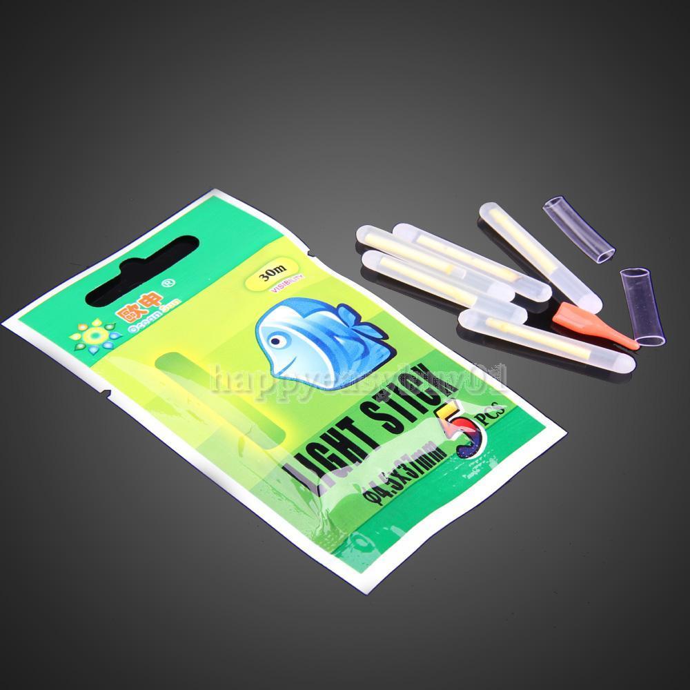 50Pcs Fishing Night Fluorescent Light Float Glow Stick Lightstick 4 5 37mm H1E1