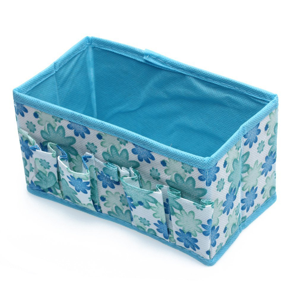 VSEN Hot StyleFashion Folding Multifunction Make Up Cosmetic Storage Box Container Bag - Blue<br><br>Aliexpress
