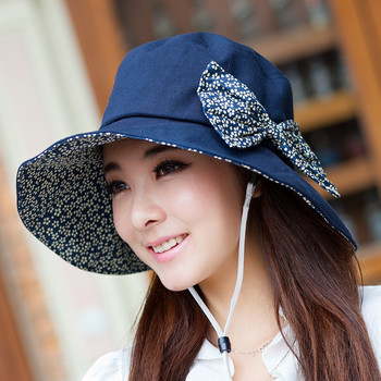 Beach cap summer sun-shading sun hat anti-uv large brim hat female summer hat flower sun hat