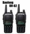 2 PCS Baofeng UV 82 Walkie Talkie Pair Black Dual Band Vhf Uhf Ham Radio Baofeng