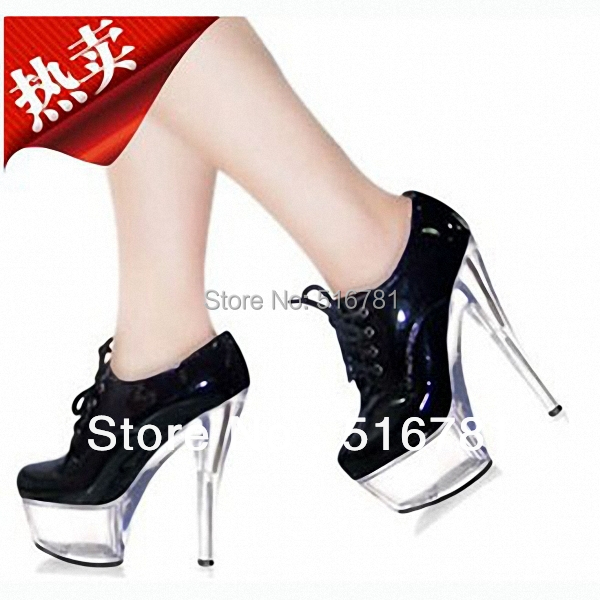 Dance Shoes 15cm Ultra High Heels Single Fashion Stage 6 Inch Gorgeous Patent Leather Mary Jane - Miss Alysia store