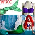 Adult Women Mermaid Swimmable Tail Set Bikini Swimming Split Swimsuit Mermaid Stage Dress