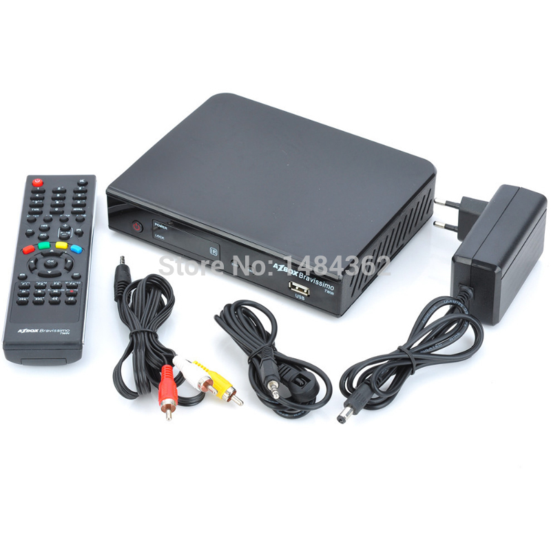 Azbox Bravissimo Satellite Receiver Twin Tuner Nagra3 Decoder Az Box Bravissimo HD TV Box For South America(China (Mainland))