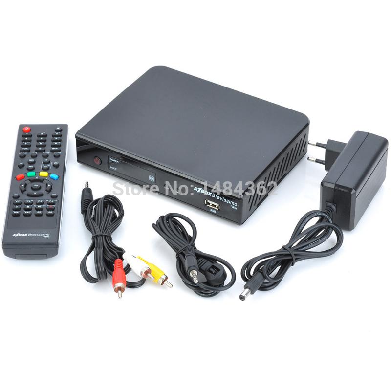 Azbox Bravissimo Satellite Receiver Twin Tuner Nagra3 Decoder Az Box Bravissimo HD TV Box For South America(China (Mainland))