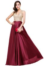 evening gown evening party evening dress 2017 burgundy evening dress(China)