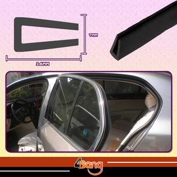 "16mmx7mm Car Truck Window Door Seal U Channel Black Edge RV Trim Rubber Flexible Protector Guard Strip 118"" 300cm"