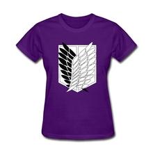 Buy Womens Weird Ask Aren Levi Attack Titan T-Shirt Creator sexy women Black T Shirts Movie Titan Logo Short-sleeve Clothing for $25.00 in AliExpress store
