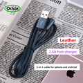 2016 Gemini Data Sync Charging USB Cable for iOS Android 2in1 micro USB Cable for Android