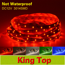 100% New DC12V SMD3014 300Leds Led Strip No-Waterproof Flexible Lamps More Brightness than 3528 strip For Home Decoration Lamp(China (Mainland))